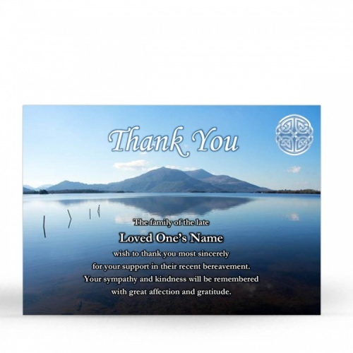 Celtic Knot Irish Memorial Thank You Notes Ireland Themes by Memorial Card Shop  - CEL02
